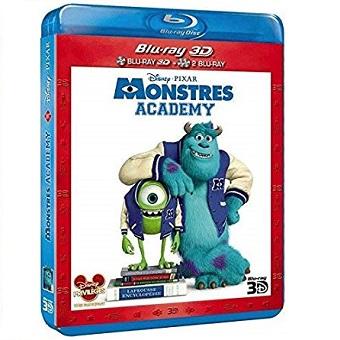 Monstres Academy Combo Blu-Ray 3D+2 Blu-Ray 2D film et Bonus. Neuf.