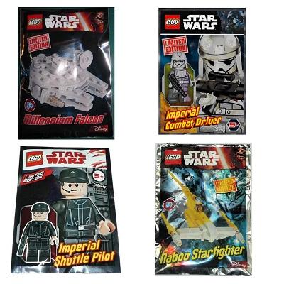 lego Star Wars édition limitée 4 Pochettes Neuf