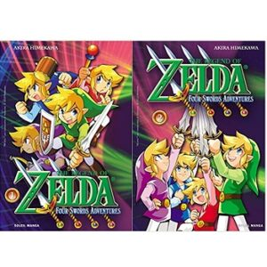 The Legend of Zelda Four Swords Adventures manga livre 1 et 2