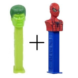 PEZ Hulk + Spiderman