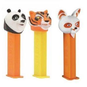 PEZ Kung Fu Panda Shifu+Maître Tigresse+Po Ping