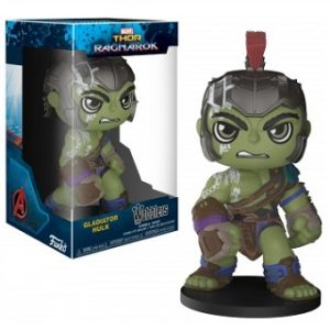 GLADIATOR HULK THOR RAGNAROK MARVEL FIGURINE, WOBBLER BOBBLE HEAD.