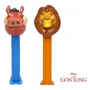 2 PEZ Roi Lion Disney Simba et Pumbaa