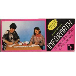 INFORMATH jeu de cartes rare de 1982 Neuf sous blister.