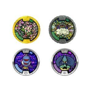 Médaillons Yo Kai Watch 1Légendaire brillant + 1 Médaillon brillant + 2 Médaillons