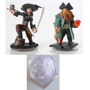 Pirate des caraïbes Disney Infinity lot de 2 figurines + Trophée.