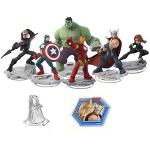 Avengers DISNEY INFINITY 2.0 6 figurines Marvel + Monde +Power disc.