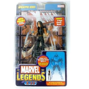 Marvel Legends X-23 + en Bonus 4 pages comics book Apocalypse series 2005 Distribué par Toy Biz Worldwide Neuf