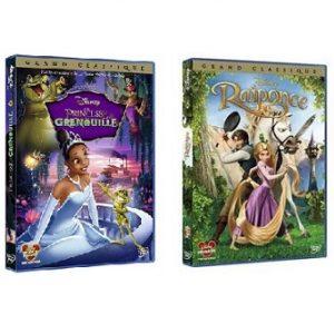 Raiponce et La Princesse et la Grenouille 2 DVD Disney