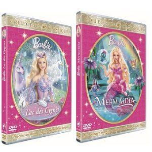 2 DVD BARBIE Lac des Cygnes et Mermaidia.