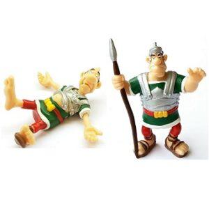 2 figurines légionnaire romain Astérix et Obélix PLASTOY 1999