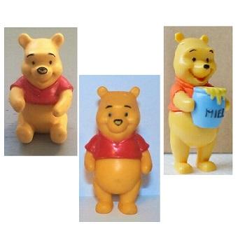 3 Figurines Winnie L'ourson Disney
