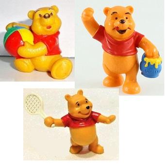 3 Winnie L'ourson Figurines Bullyland Germany