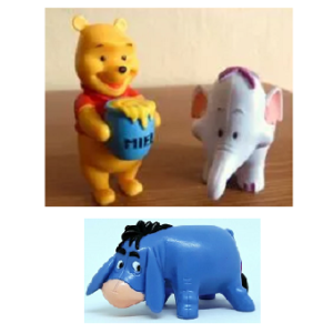Winnie L'ourson 3 Figurines Disney.