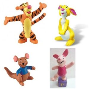 4 Figurines Winnie L'ourson Bullyland.