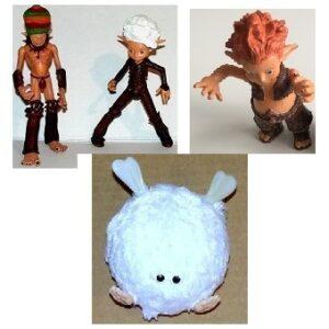 Arthur et les Minimoys 4 figurines d'occasion