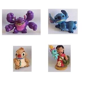 4 figurines Lilo et Stitch Disney d'occasion