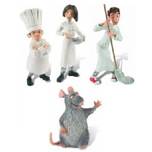 Ratatouille 4 figurines Bully Disney Pixar