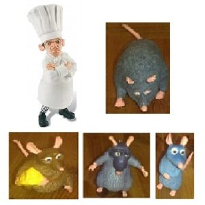 Ratatouille 5 figurines Disney Pixar