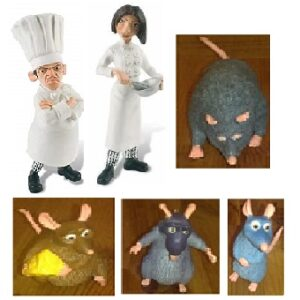 Ratatouille 6 figurines Disney Pixar