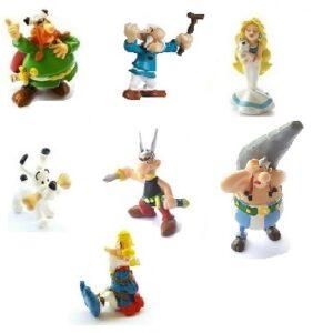7 figurines Astérix et Obélix PLASTOY 1997