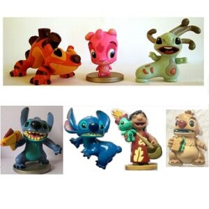 Lilo et Stitch 7 figurines Disney d'occasion.