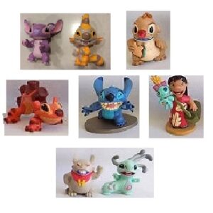 Lilo et Stitch 8 figurines + 1 figurines surprise Stitch Disney d'occasion.