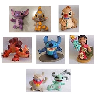 Lilo et Stitch 8 figurines + 1 figurines surprise Stitch Disney d'occasion.