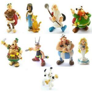 9 figurines Astérix et Obélix PLASTOY 1997