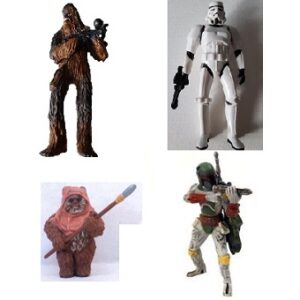 Star wars 2007 lot 4 figurines LFL