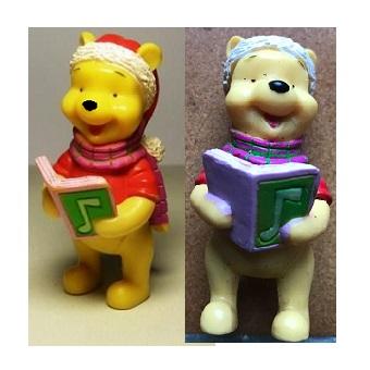 Winnie L'ourson noël avec livre chant Figurine Disney