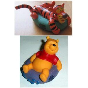 Winnie L'ourson et Tigrou Souple sur bouée Figurines Bullyland Disney