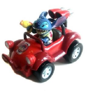 Stitch en voiture rouge 626 Figurine Disney.