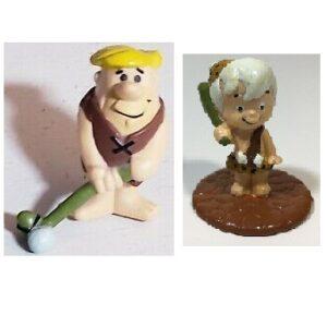 Pierrafeu 2 figurines 1990 Hanna-Barbera Vintage.