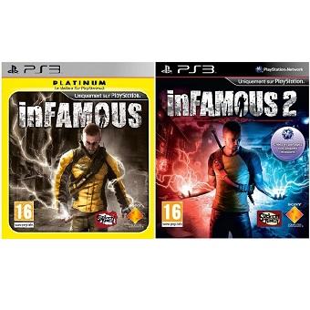 InFamous 1 et 2 jeu PS3 d'occasion