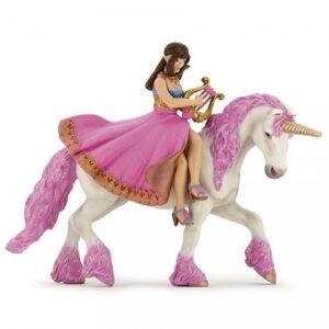 Princesse à La Lyre sur sa licorne Figurine Papo.