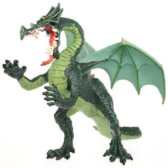 LE GRAND DRAGON VERT Figurine Plastoy.