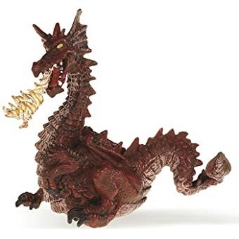 Dragon rouge cracheur de feu figurine papo.