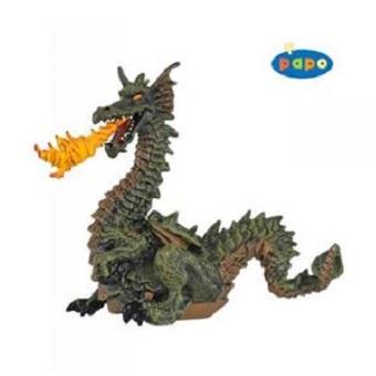 Dragon vert cracheur de feu figurine papo.