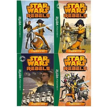 Star Wars Rebels livre 1 à 4 la Bibliothèque verte