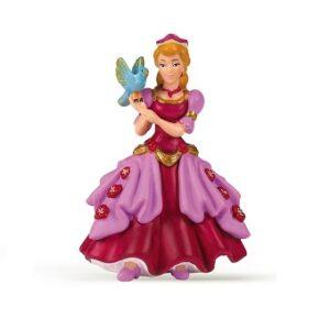 Princesse avec oiseau bleu figurine ISO-SEL.