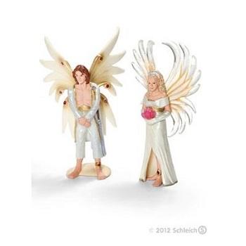 Mariès Elfe Sireel et Solfur 2 figurines schleich.