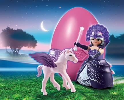 Œuf de Pâques Playmobil 6837 Reine des étoiles avec bebe pégase.