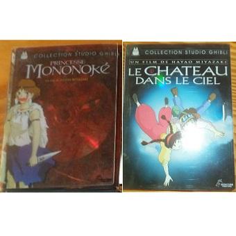 Princesse Mononoké et Château dans le ciel. DVD Studio Ghibli versions limitée.